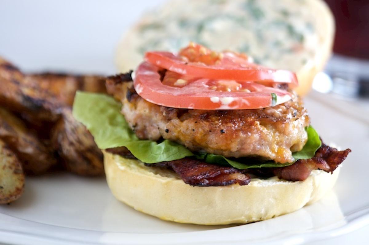 BLT Chicken Burgers Recipe | Online Food Blog