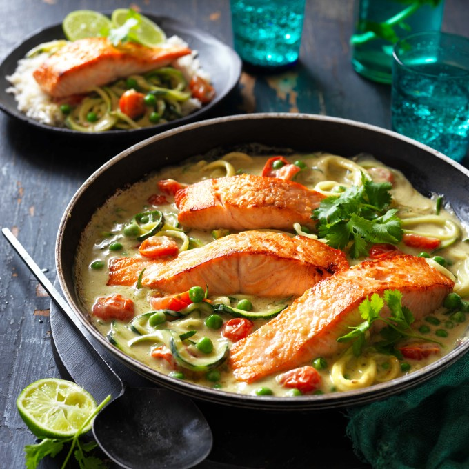 Green Thai Curry Salmon myfoodbook with Passage to Asia Green Thai Curry Salmon