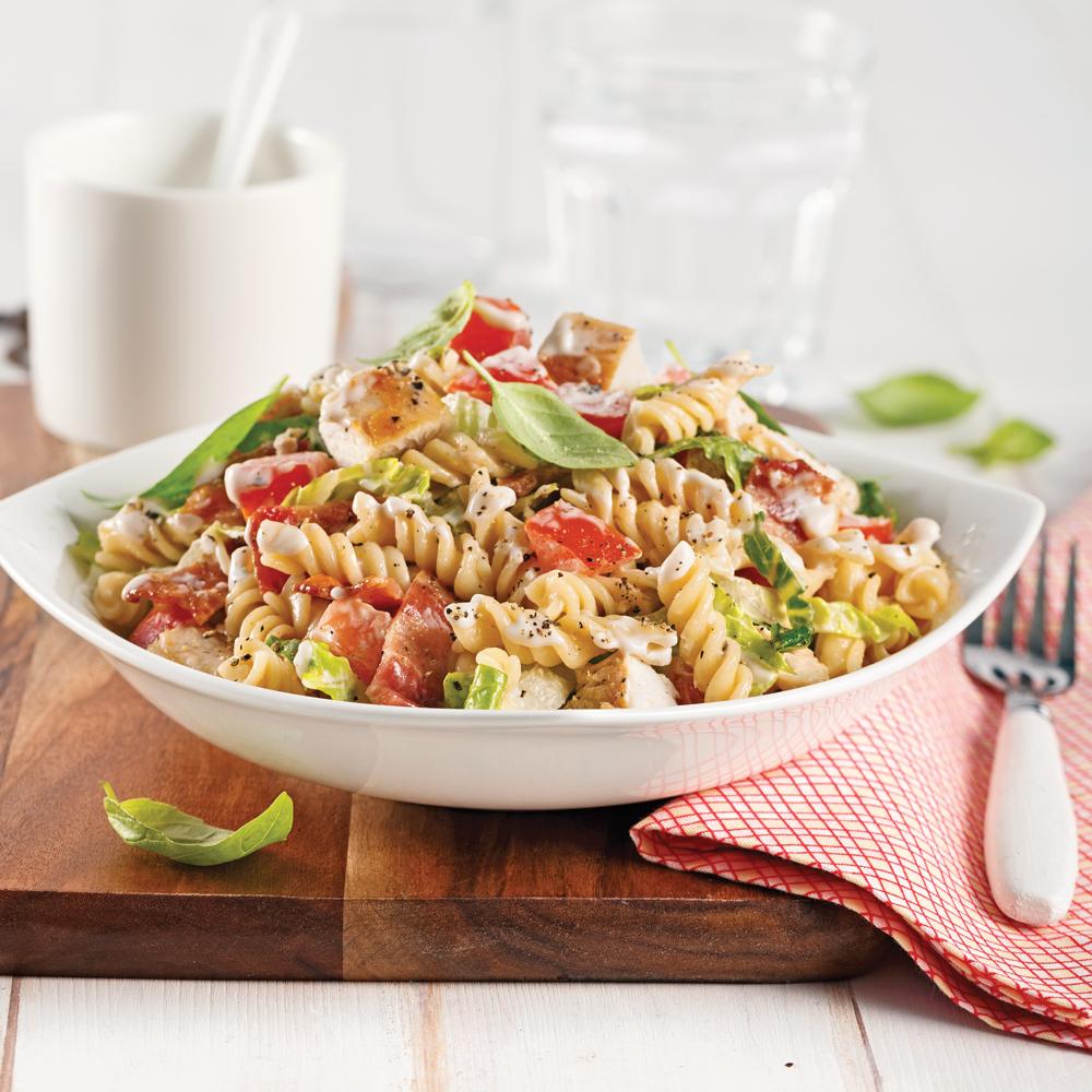 Salade De Pâtes Blt - 5 Ingredients 15 Minutes