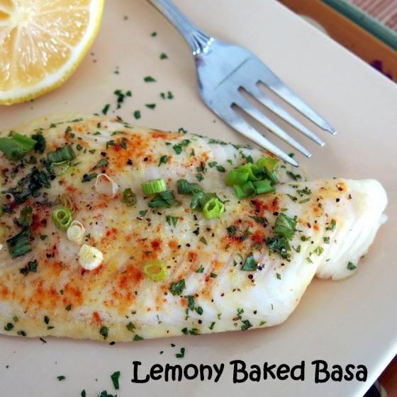 Lemony Baked Basa