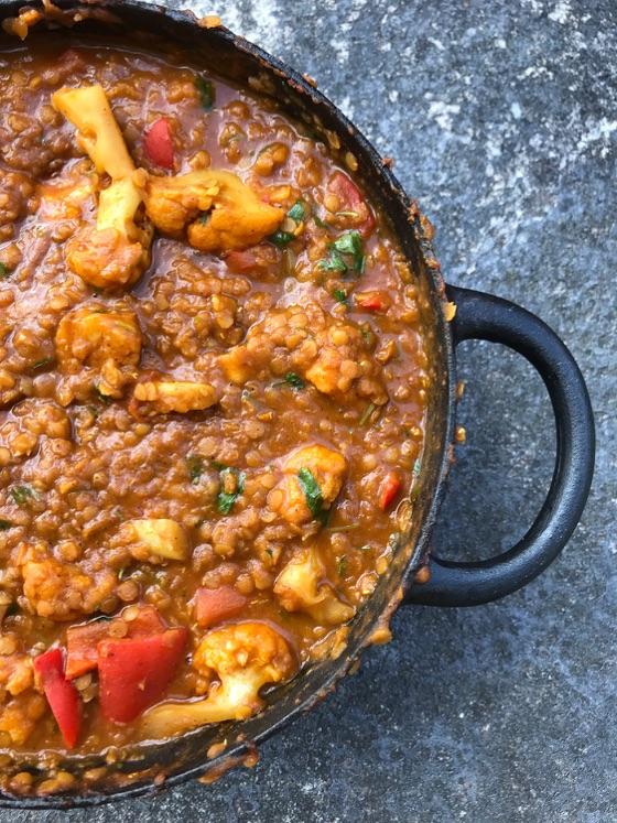 Indisk Linsgryta Med Blomkål – Dahl Deluxe!   Jävligt Gott - Vegetarisk Mat Och Vegetariska Recept För Alla, Lagad Enkelt Och Jävligt Gott.