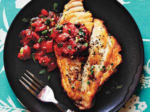 Pan-Roasted Mahi Mahi With Tomato Garlic Butter Sauce