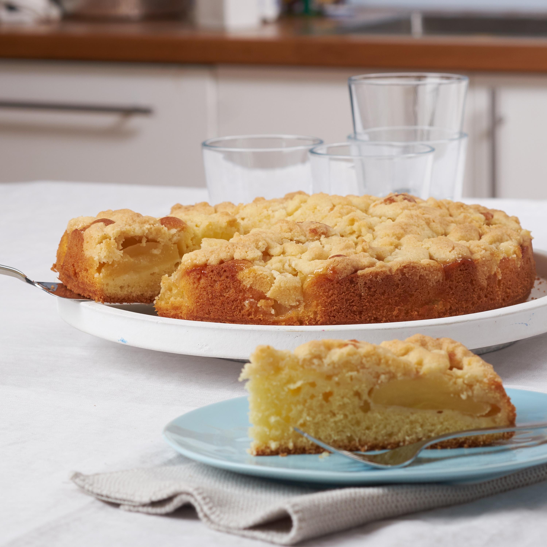 Einfacher Apfel-Streusel-Kuchen - Rezept von Backen.de