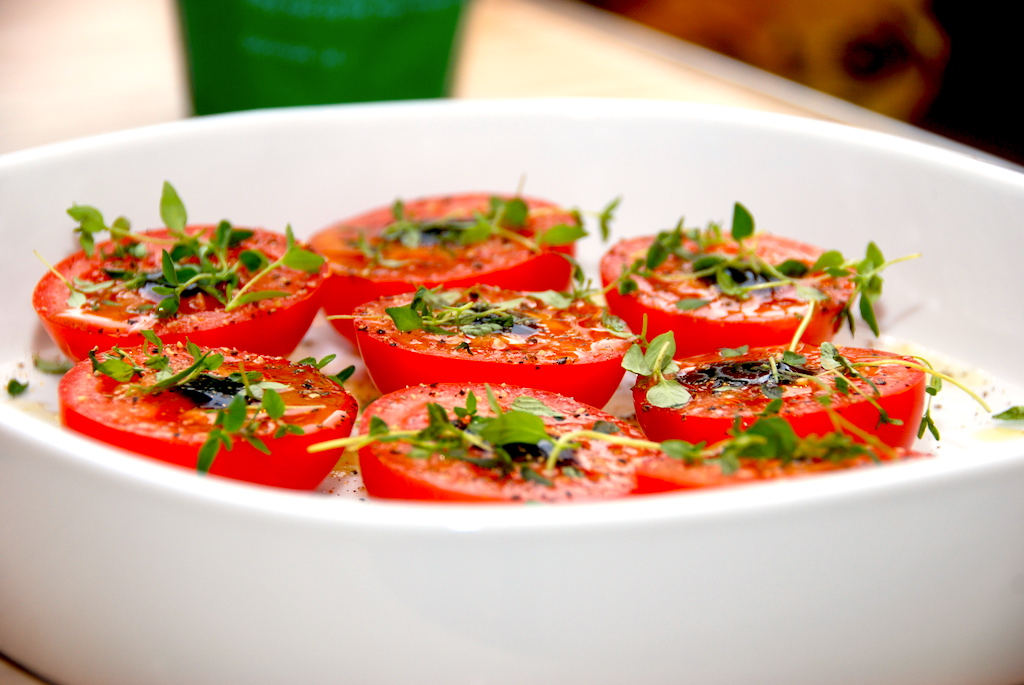 Ovnbagte Tomater Med Timian
