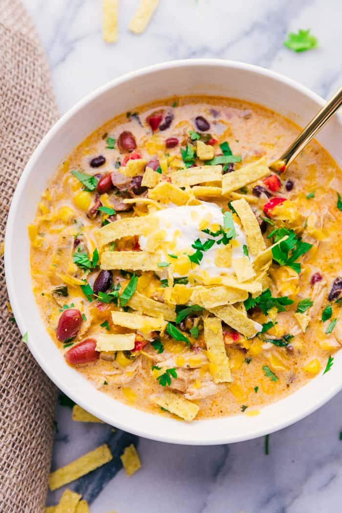 Chicken Tortilla Soup Crock Pot - A Dash of Sanity