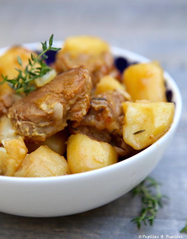 Filet Mignon Au Miel Et À La Moutarde Et Pommes De Terre À L'autocuiseur