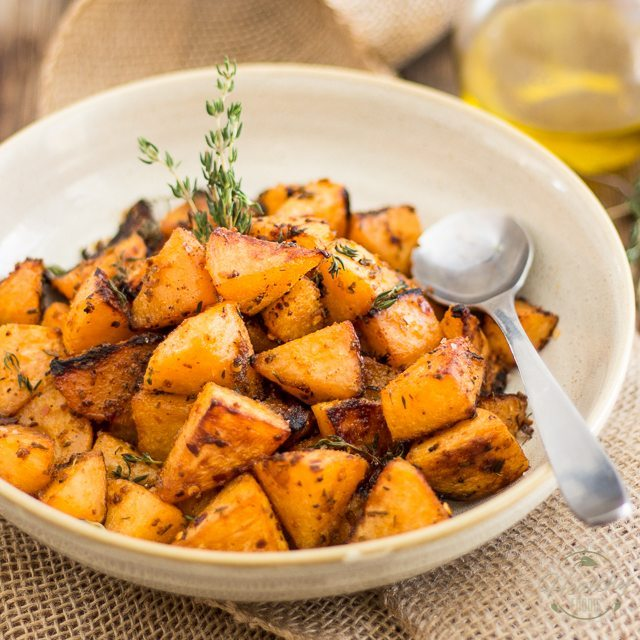 Greek Style Oven Roasted Rutabaga