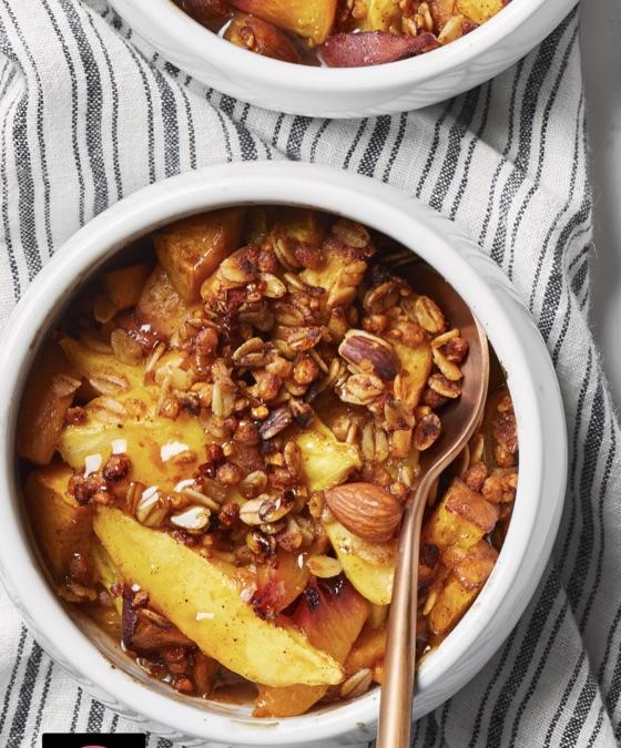 Mango-Peach Cobblers