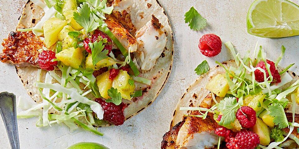 Raspberry-Pineapple Fish Tacos