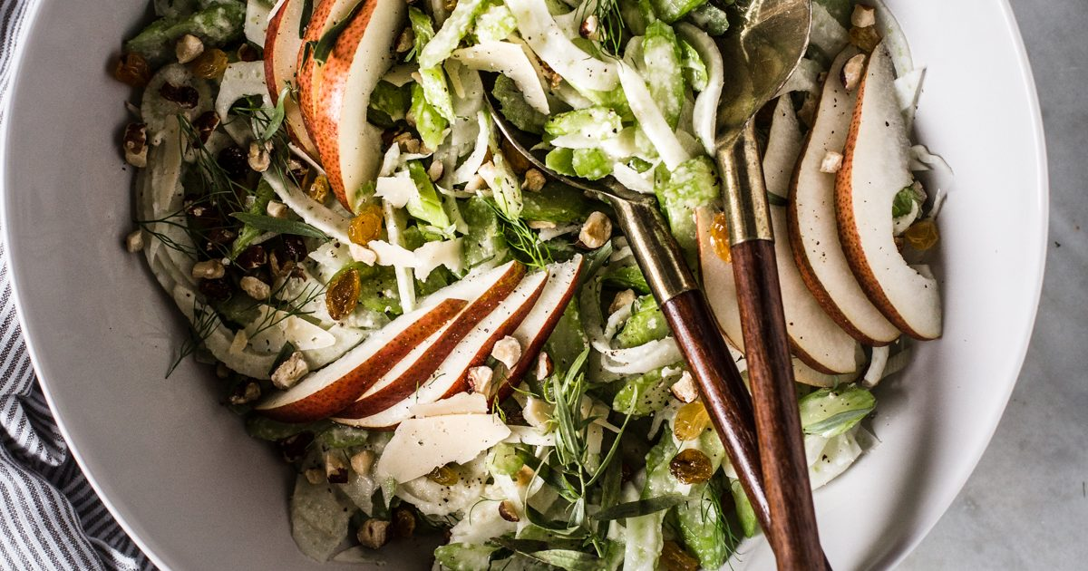 Celery Pear And Hazelnut Salad