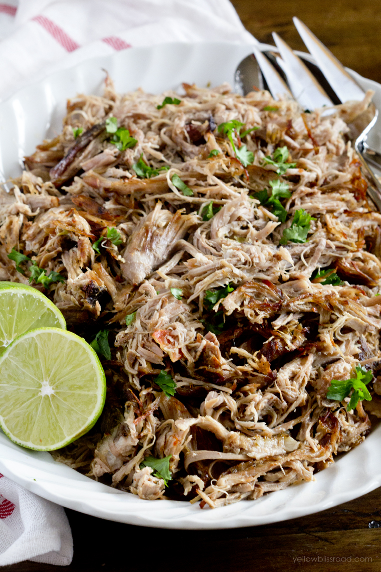Easy Slow Cooker Carnitas - Yellow Bliss Road
