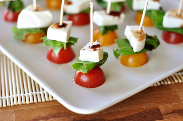Quick and Tasty Caprese Skewers - Mel's Kitchen Cafe