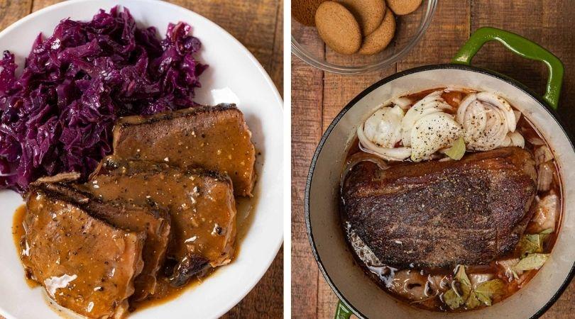 Traditional German Sauerbraten Recipe - Dinner, then Dessert