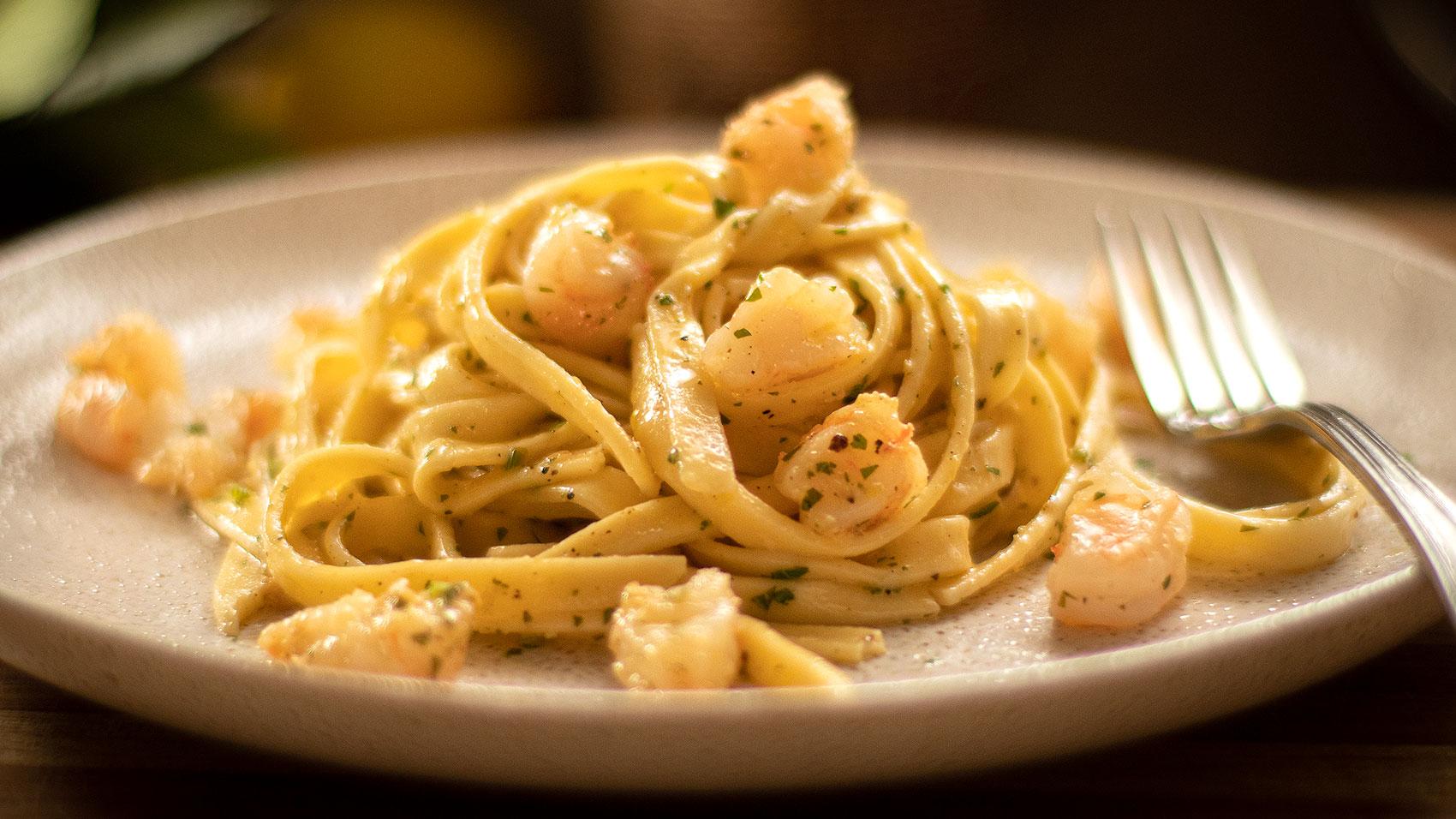 Shrimp: Lemon Pepper Pasta
