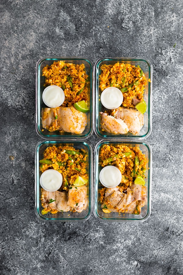 Low Carb Indian Chicken Skillet