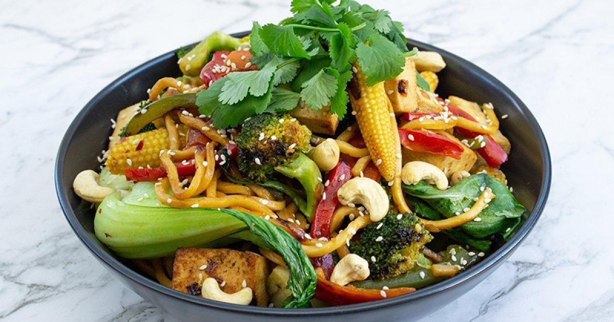 Colourful Vegetarian Stir-Fry