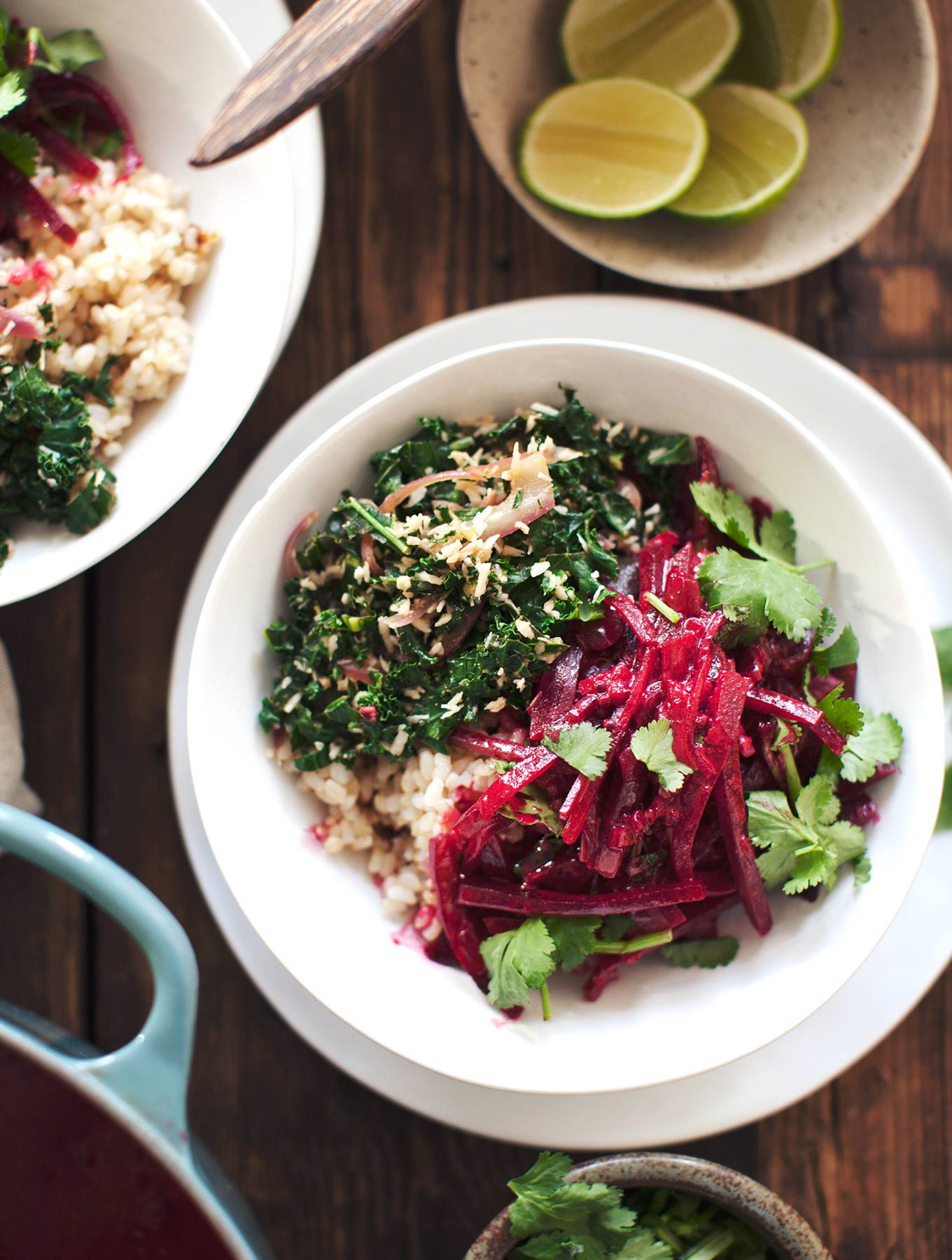 Sri Lankan Beetroot Curry & Kale Mallung - My New Roots