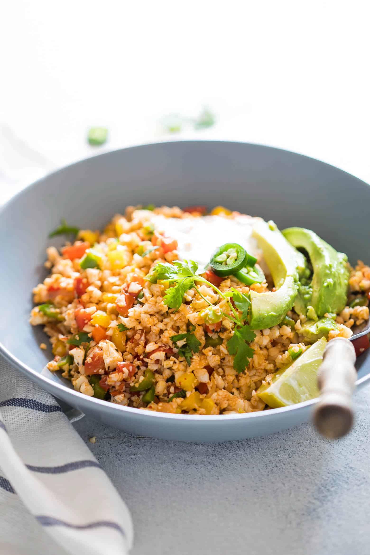 Keto Mexican Cauliflower Rice