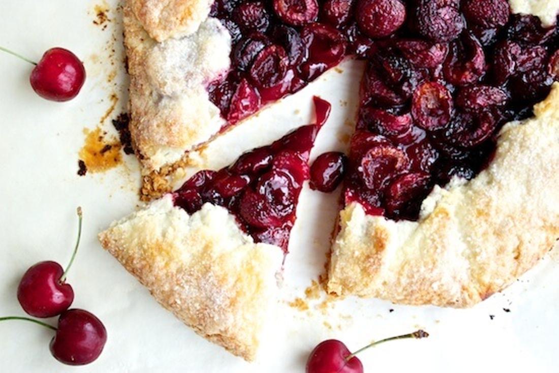 Cherry Tart Sweet Cherries Recipe   Online Food Blogger