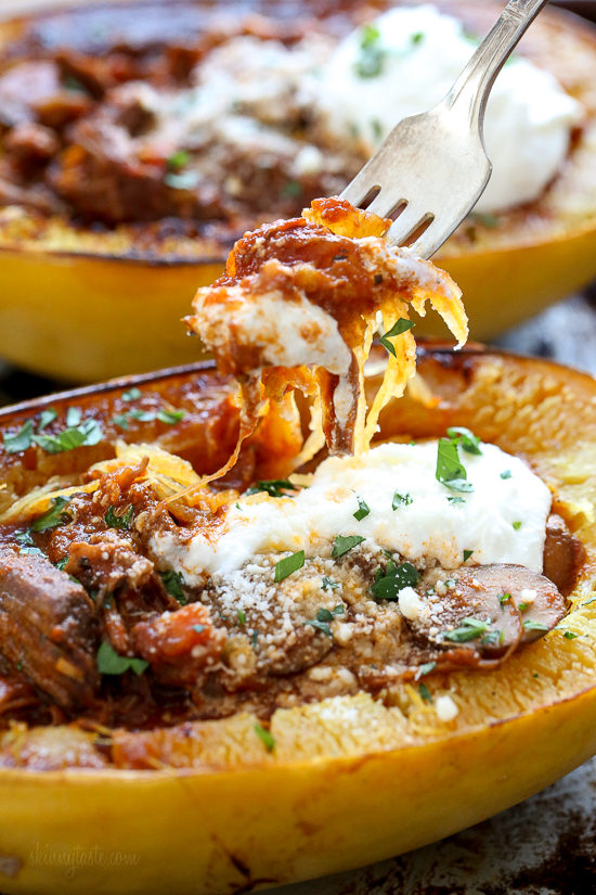 Beef And Mushroom Ragu With Spaghetti Squash (Instant Pot)