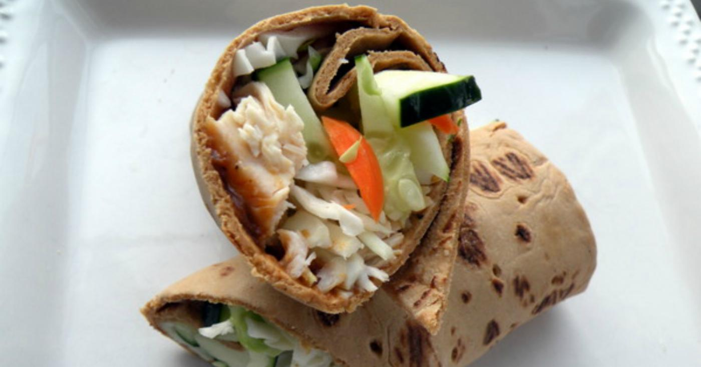 Lighter Thai Inspired Chicken Wraps