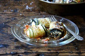 Zucchini Involtini with Swiss Chard &Ricotta