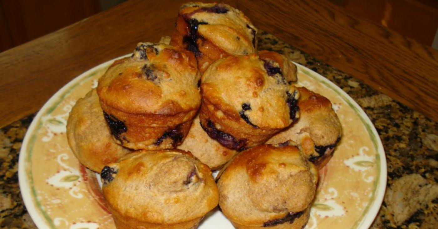 Fat-Free Lemon And Berry Muffins Freezer Meal Recipe