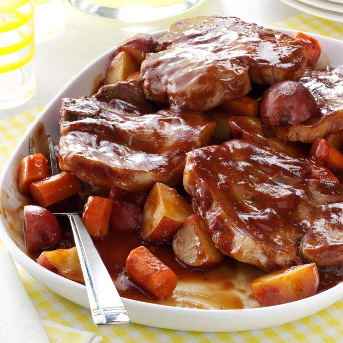 Barbecued Pork Chop Dinner