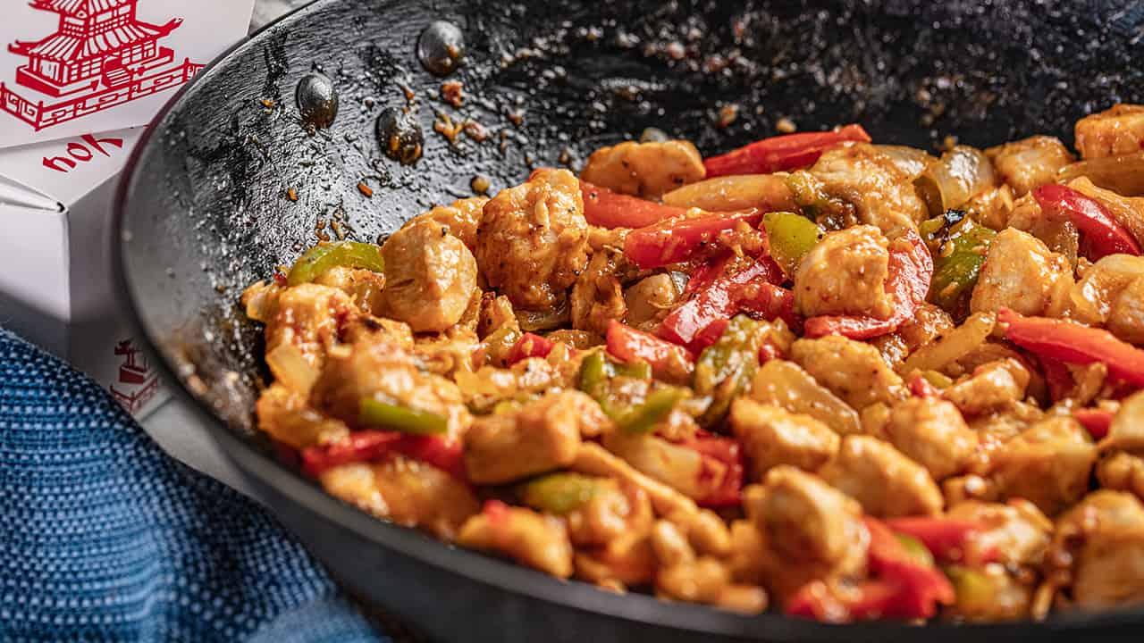 Szechuan Chicken Takeout Style Szechuan Chicken - Thestayathomechef.Com