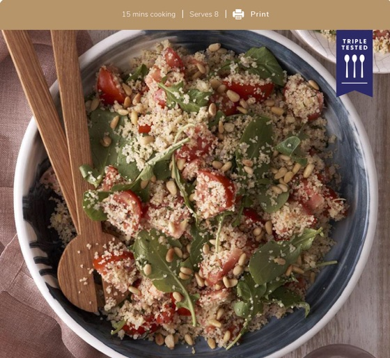 Couscous Tomato And Rocket Salad