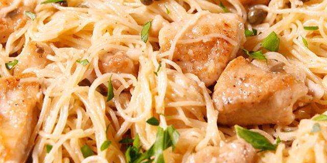 Chicken Breast: Piccata Pasta