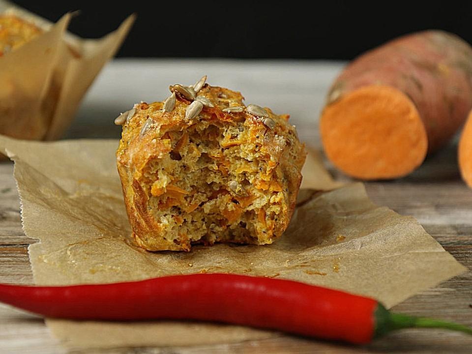 Süßkartoffel-Muffins Mit Parmesan Und Chili Von Mrsflury   Chefkoch