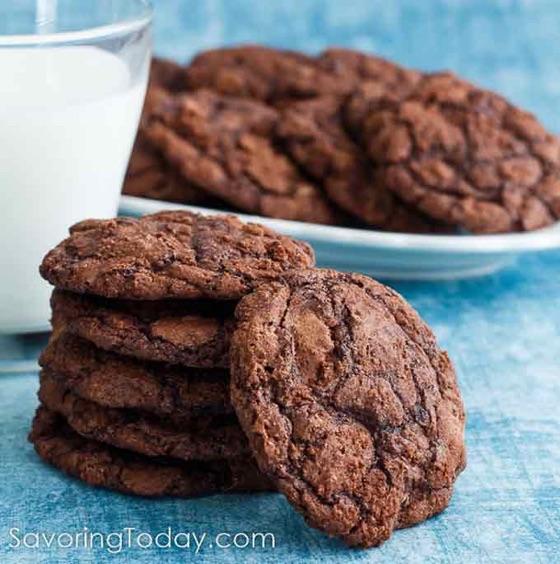 Ghirardelli Brownie Cookies - Savoring Today