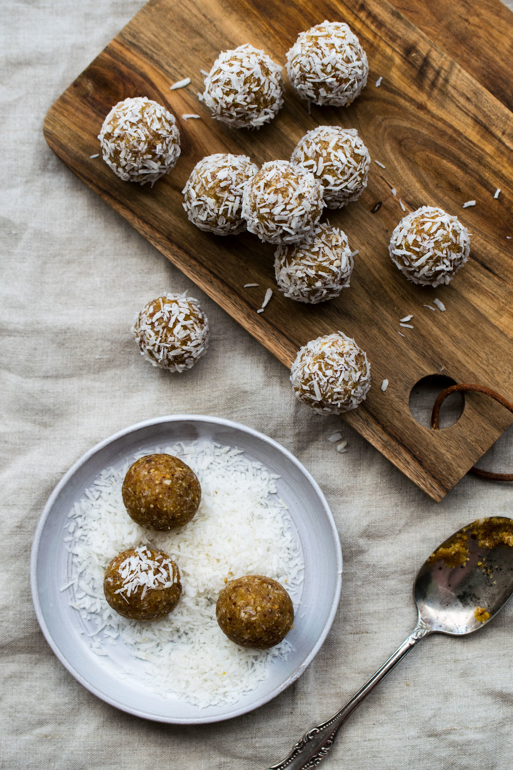Almond And Apricot Bliss Balls With Wintery Spices