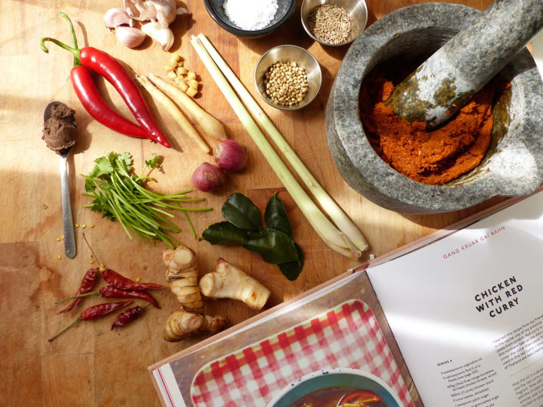 Thai food recipe | Rosa's Thai red curry paste
