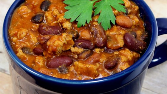 Laura's Quick Slow Cooker Turkey Chili Recipe