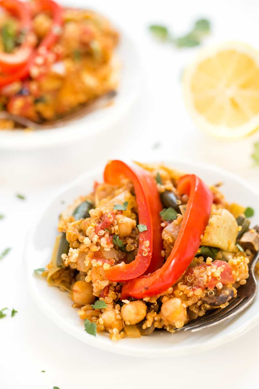 One Pan Vegetable Quinoa Paella