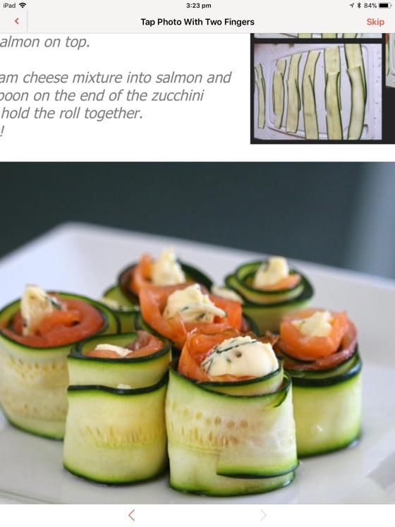 Zucchini Smoked Salmon Roll Ups