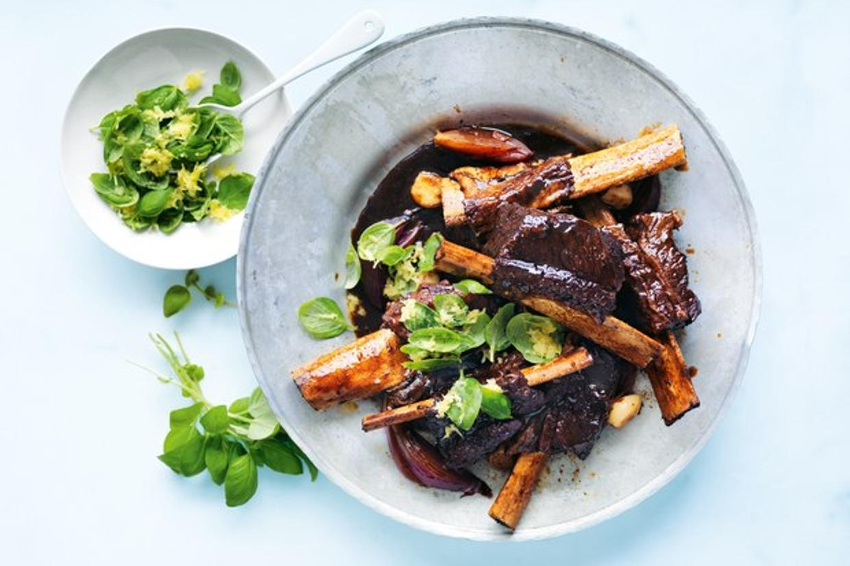 Braised Short Ribs with Balsamic Vinegar Recipe | Online Food Blogger