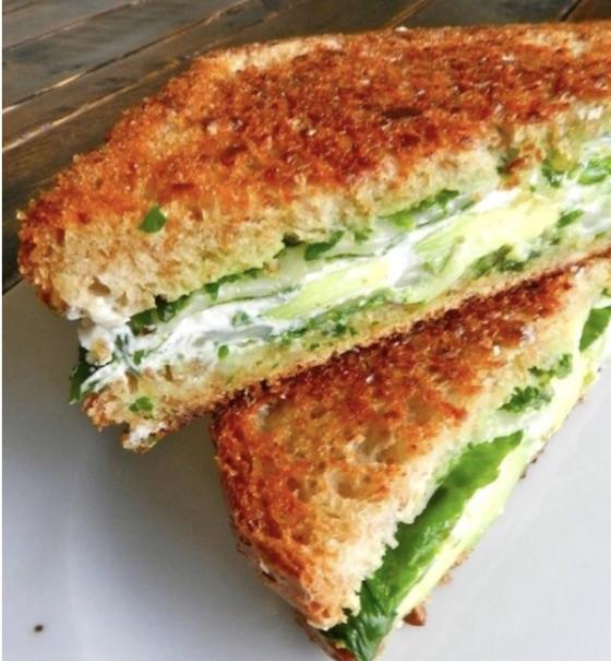 Avocado Goat Cheese Sandwich