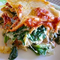 Spinach Lasagna Iii Recipe