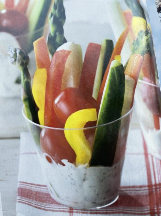 Dill Veggie Dip  In Cups   So Cute!