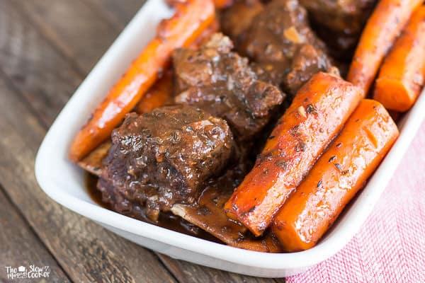 Short Ribs: Carrots And Garlic Tomato Gravy