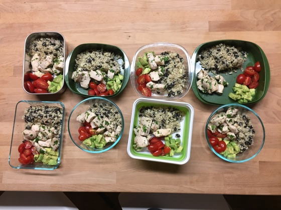 Meal-Prep Cilantro Lime Chicken With Cauliflower Rice - Fit Foodie Finds