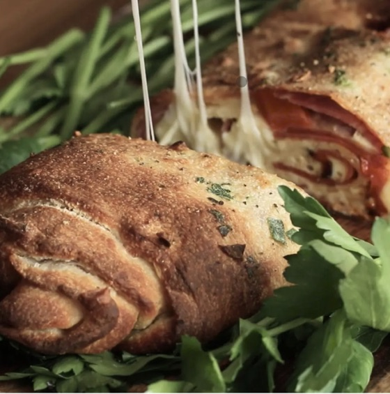 Stromboli:  Pepperoni & Roasted Peppers