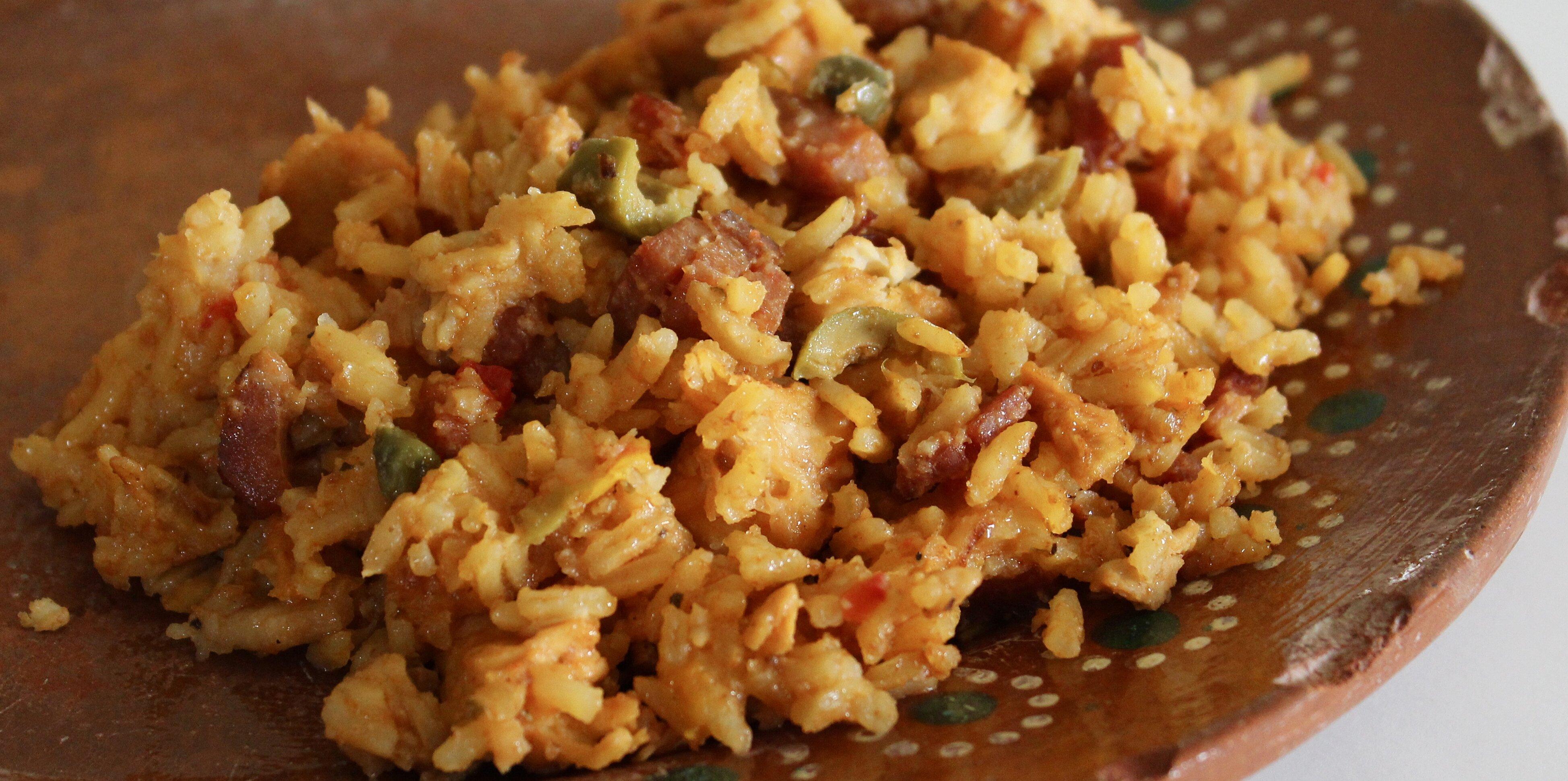 Chicken Thighs: Puerto Rican Arroz Con Pollo