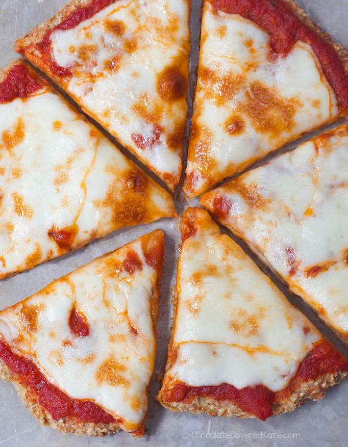Cauliflower Pizza Crust - Just 5 Ingredients!