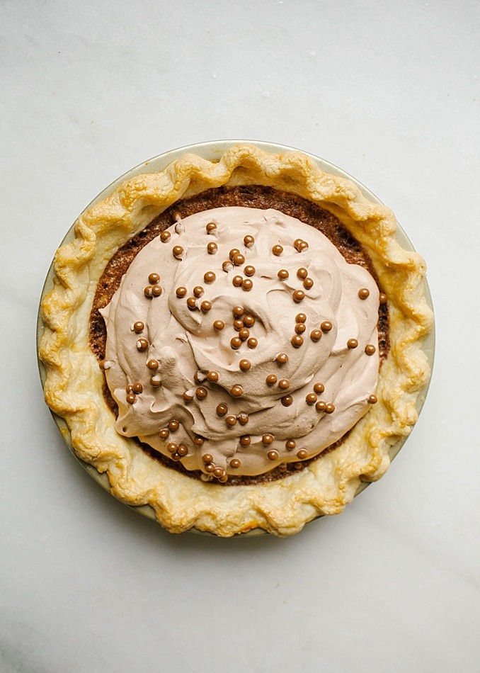 Chocolate Chess Pie - Wood & Spoon