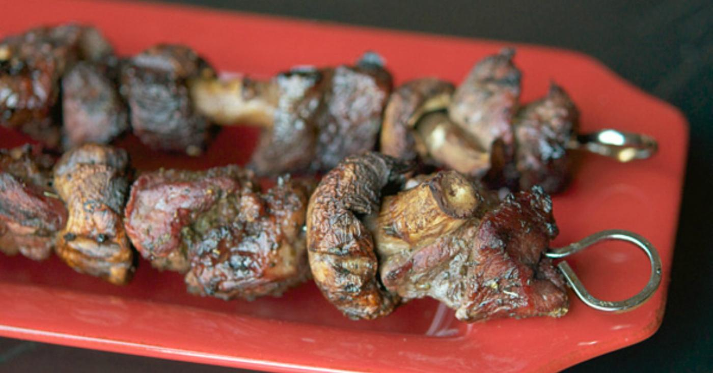 Paleo Mushroom And Steak Skewers