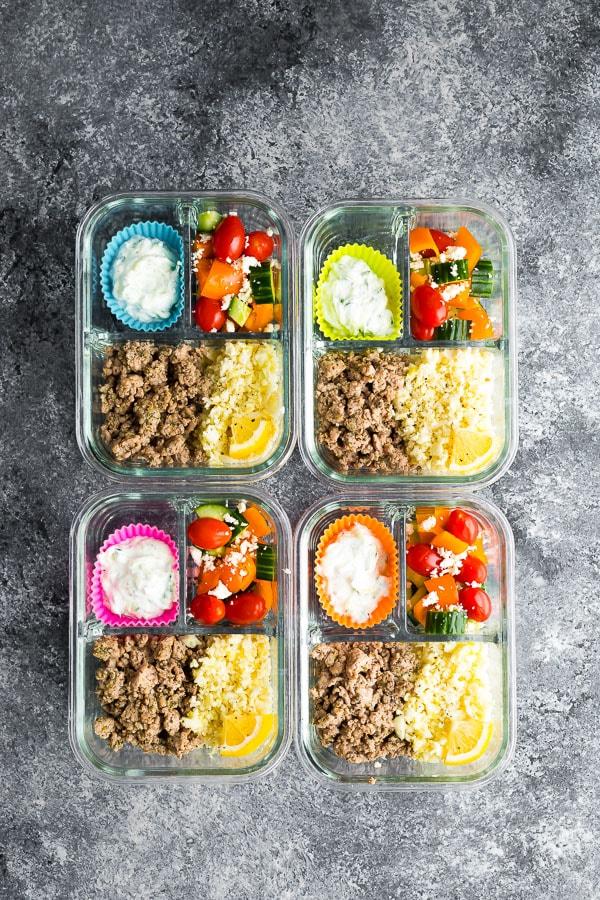 Low Carb Greek Turkey Meal Prep
